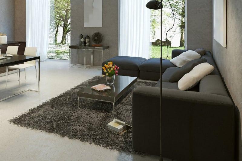 marmertapijt in modern interieur