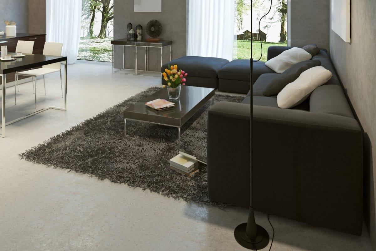 Een gietvloer in combinatie met een houten vloer pandomo vloer